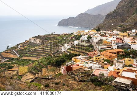 View Of The Old Town On The Rock Of La Gomera Island,canary Islands, Spain