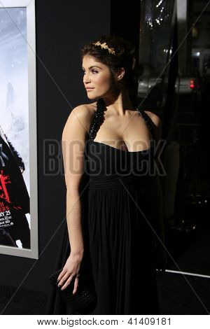 LOS ANGELES - JAN 23: Gemma Arterton at the LA premiere of Paramount Pictures' 'Hansel And Gretel: Witch Hunters' at Grauman's Chinese Theater on January 24, 2013 in Los Angeles, California