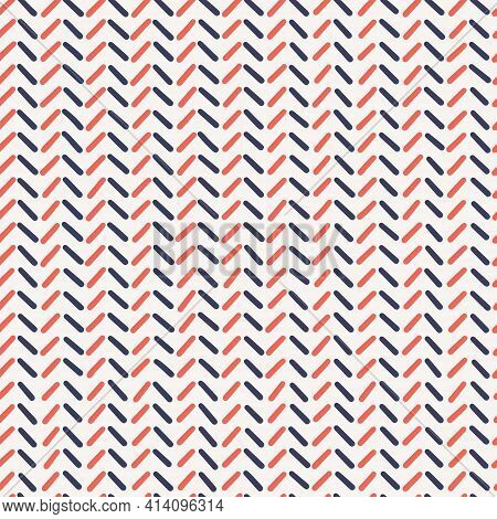 Vector Oblique Dashed Lines, Seamless Pattern. Design Element For Prints, Backgrounds, Template, Web