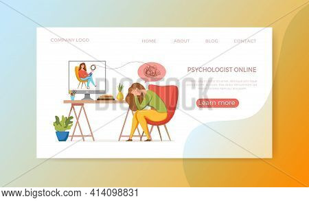Psychology Therapy Counseling Vector Concept. Cartoon Illustration Of Psychotherapy Practice Therapy