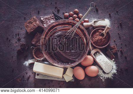Chocolates Background. Assortment Of Fine Chocolates In White, Dark, And Milk Chocolate. Chocolate S