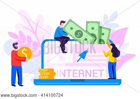 Data Monetization Monetizing Of Data Services Selling Of Data Analysis Concept Online Influencer Bus