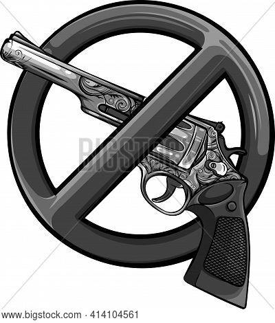 Design Of Symbol No Gun On White Background Vector Illustration