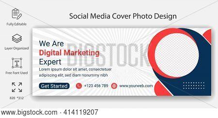 Social Media Banner Design For Digital Marketing Agency Business. Editable Social Media Template For