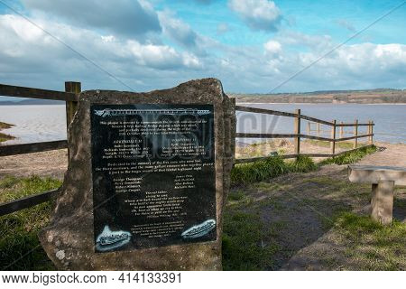 Berkeley, Gloucestershire, Uk - March 15, 2021: Plaque Erected To Commemorate The Fiftieth Anniversa