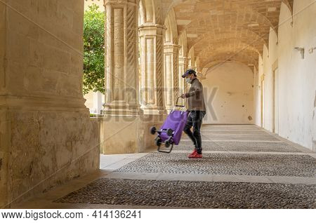 Manacor, Spain; March 18 2021: Interior Of The Cloister Of Sant Vicenç Ferrer, Historic Building Tha