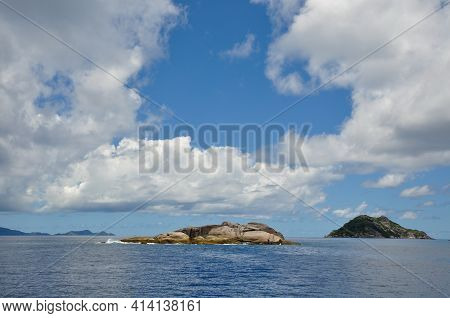 Outcropping Rock Famous For Scuba Diving In The Indian Ocean Part Of The Petit Soeur Or Little Siste