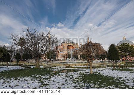 Hagia Sophia In Sultanahmet, Istanbul City, Turkey