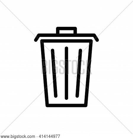 Trash Can Icon Isolated On White Background. Trash Can Icon In Trendy Design Style. Trash Can Vector