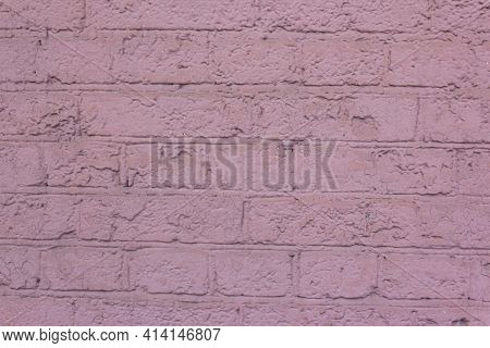 Abstract Pink Color Brick Wall Texture For Background. Textured Background Illustration. Abstract We