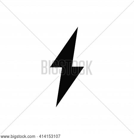 Lightning Icon Isolated On White Background. Lightning Icon In Trendy Design Style. Lightning Vector