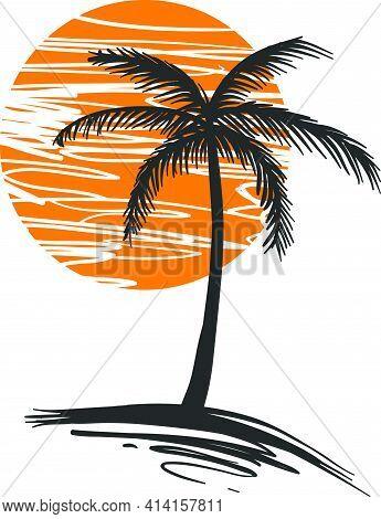 Sunset-palm-vector