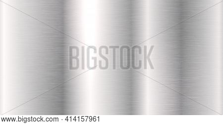 Background Texture Of Silver Metal With Highlights - Vector Illustration