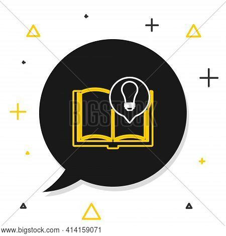 Line Interesting Facts Icon Isolated On White Background. Book Or Article And Light Bulb. Colorful O