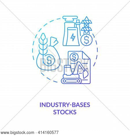 Industry-based Stocks Concept Icon. Stock Type Idea Thin Line Illustration. Technology, Energy Secto
