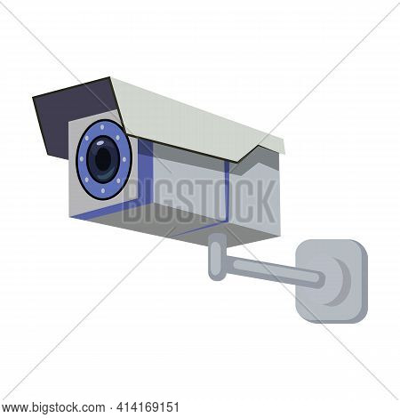 Camera Cctv Vector Icon.cartoon Vector Icon Isolated On White Background Camera Cctv.