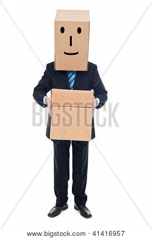 Businessman With Cardboxes