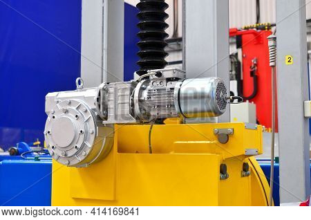 New Electric Motor For Industrial Machines At The Plant And For The Production, Equipment For Transp