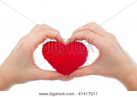 Female Hands Holding Heart