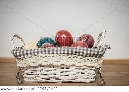 easter spring still life with eggs neutral colors