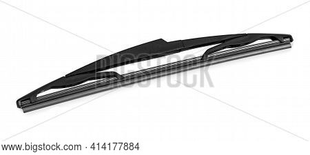 Car Wiper Isolated On White Background With Clipping Path