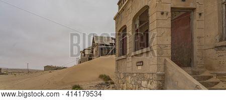 Namib Desert, Namibia - January 8.2021: The Architekt House At German Kolmanskop - Kolmannskuppe Gho
