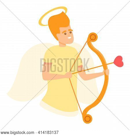 Angel Cupid Icon. Cartoon Of Angel Cupid Vector Icon For Web Design Isolated On White Background