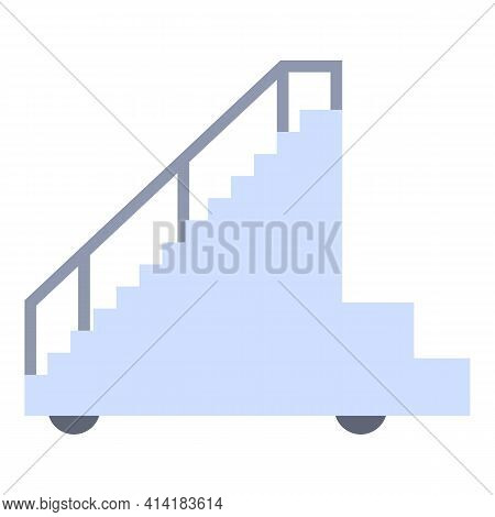 Plane Ladder Icon. Cartoon Of Plane Ladder Vector Icon For Web Design Isolated On White Background
