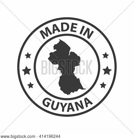 Made In Guyana Icon. Stamp Sticker. Vector Illustration