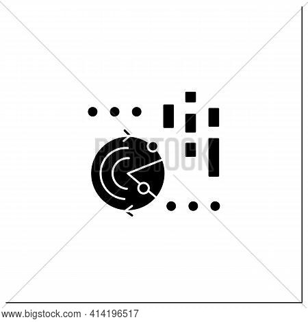 Continuously Data Update Glyph Icon.continuous Process Of Updating Users Data, Information.infograph