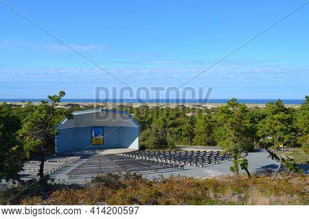 PROVINCETOWN, MASSACHUSETTS - 17 OCT 23011: Amphitheater at the National Seashore