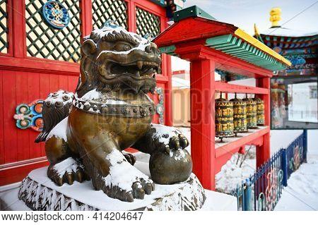 Ivolginsky Buddhist Temple Complex In Ulan-ude In The Republic Of Buryatia, Russia