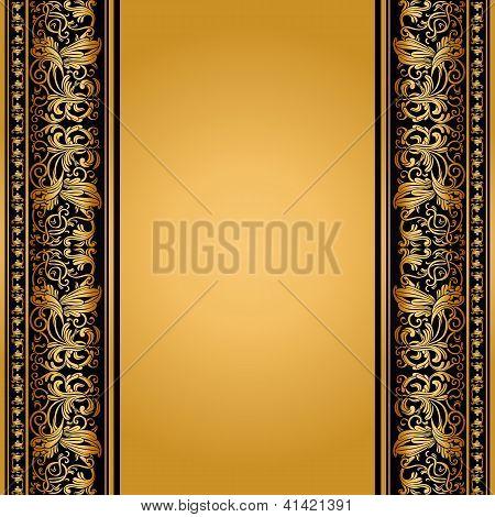 Vintage, Elegant Background, Antique, Victorian Gold, Floral Ornament, Baroque Frame, Beautiful