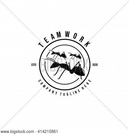 Teamwork Logo Vector Illustration Design, Ant Logo, Brotherhood Logo