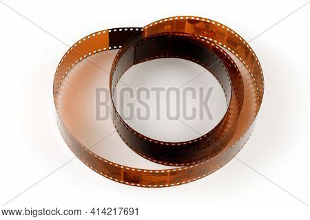 Lviv, Ukraine - March 20, 2021: Photographic Film On A White Background Isolate