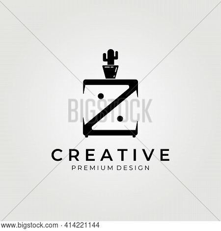 Furniture, Minimalist Interior Logo, Creative And Clever Letter Mark Z Logo , Furniture Icon Logo Ve