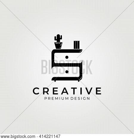 Furniture, Minimalist Interior Logo, Creative And Clever Letter Mark S Logo , Furniture Icon Logo Ve