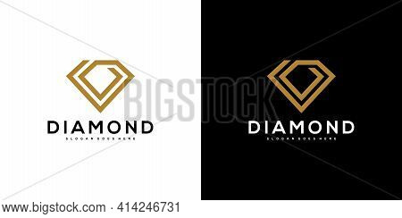 Diamond Logo Vector Designs Mono Line Logo