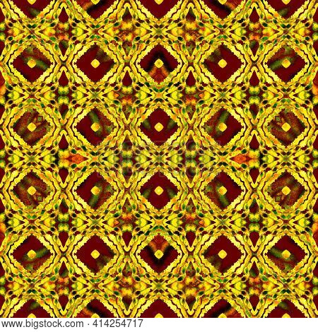 Mosaic Traditional Art. Brown, Ochra, Cepia Home Decor. Moroccan, Tunisian Motif. Turkish, Arab, Orn