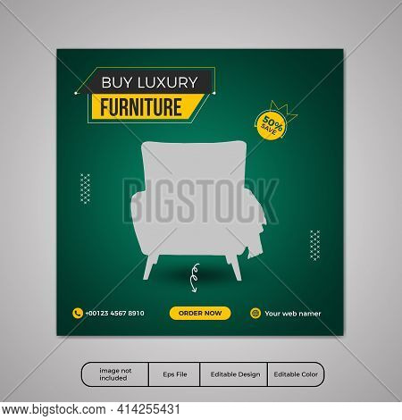 Furniture social media post templates, adventure banner promotion for social media template,yellow social media post template, Real Estate Social Media Post Template, Social Media Banners