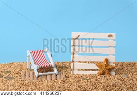 Concept Photo With Empty Space For Your Text, Vacations At The Beach.
