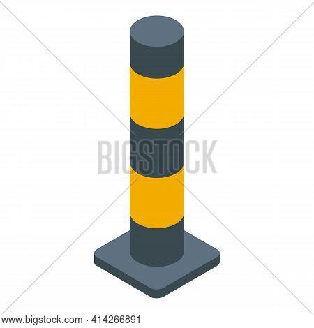 Pillar Border Icon. Isometric Of Pillar Border Vector Icon For Web Design Isolated On White Backgrou