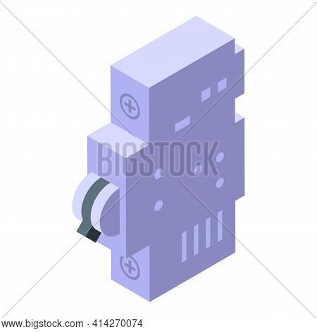 Safe Circuit Breaker Icon. Isometric Of Safe Circuit Breaker Vector Icon For Web Design Isolated On