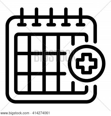 Medical Appointment Icon. Outline Medical Appointment Vector Icon For Web Design Isolated On White B