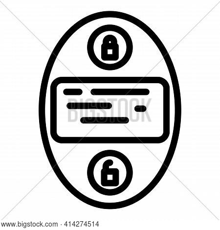 Smart Auto Key Icon. Outline Smart Auto Key Vector Icon For Web Design Isolated On White Background