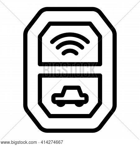 Auto Keyless Icon. Outline Auto Keyless Vector Icon For Web Design Isolated On White Background