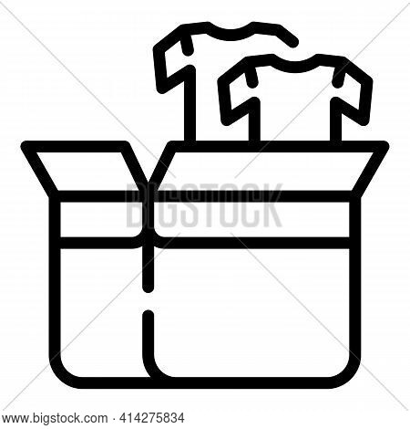 Giving Away Clothes Icon. Outline Giving Away Clothes Vector Icon For Web Design Isolated On White B
