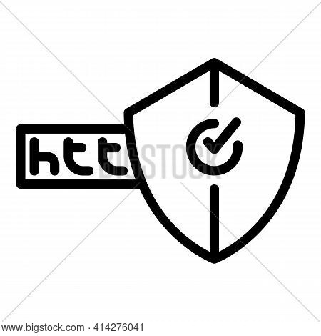 Secured Webpage Icon. Outline Secured Webpage Vector Icon For Web Design Isolated On White Backgroun