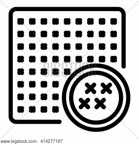 Protection Cipher Icon. Outline Protection Cipher Vector Icon For Web Design Isolated On White Backg