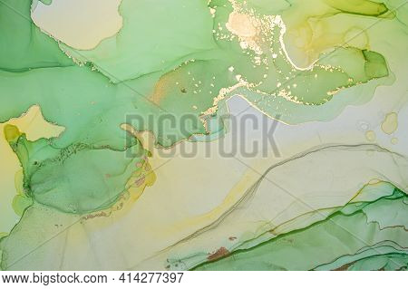 Color Abstract Background Liquid. Alcohol Ink On Paper. Elegant Wave Mix. Fluid Acrylic Design. Abst